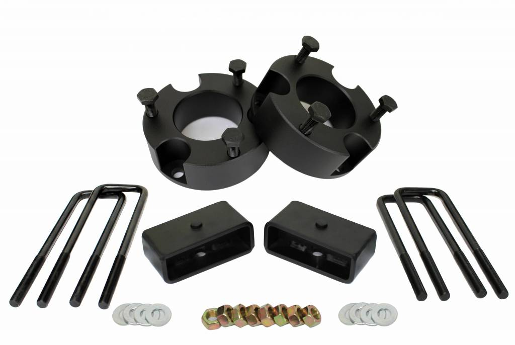 """For 05-19 Toyota Tacoma 2/"""" Front 1/"""" Rear Leveling Lift Kit 2WD 4WD Blk Billet"""